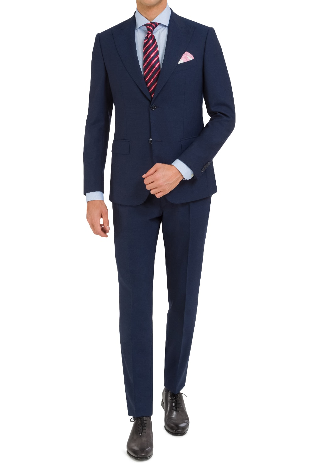 Refined navy suit