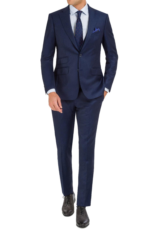 Discrete blue stripe 3 pcs suit.
